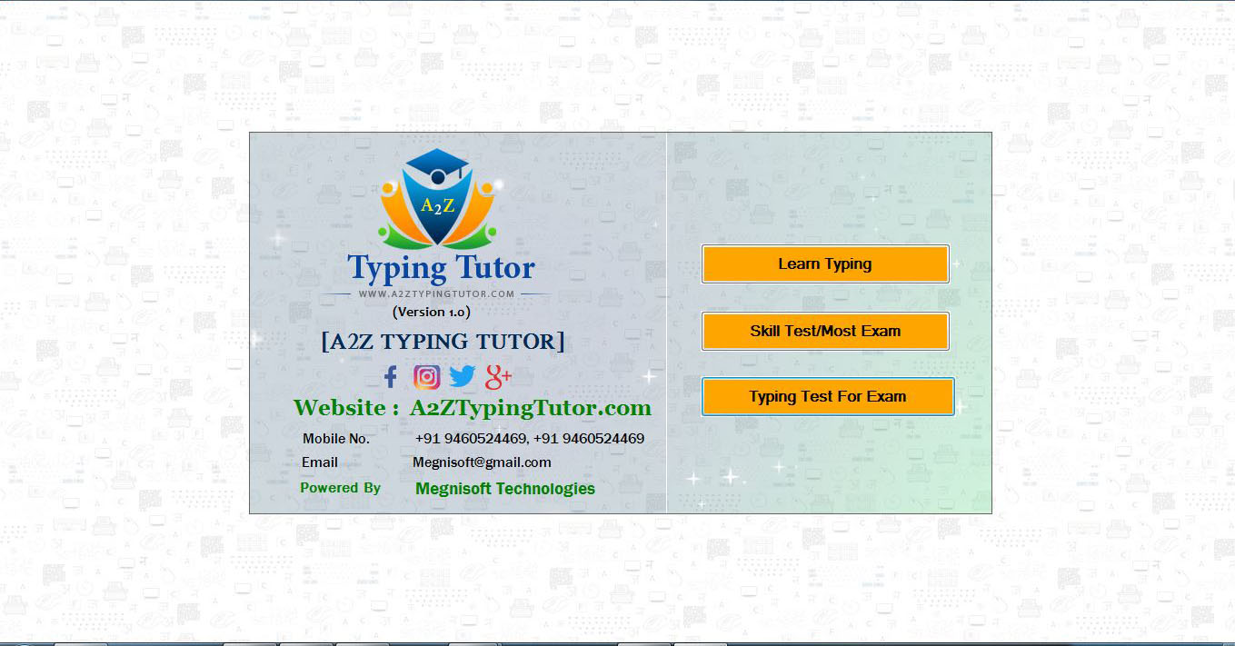 A2z Typing Tutor Software